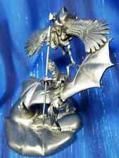 Knights of the Air Dragon Flight Rider Pegasus Pewter Figurine Rawcliffe