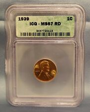 1939 Lincoln Wheat Cent MS 67 RD