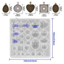 31PCS DIY 25mm Cabochon Round Bezel Frame Pendant Settings Jewelry Necklace Make