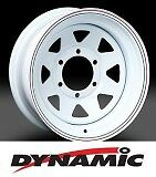 "DYNAMIC Steel White Sunraysia 15x8"" 6x139.7 Steel Rim"