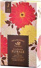 European Soap Pre de Provence FLORAL COLLECTION GIFT BOX 3 Pack 150g. Shea Soap