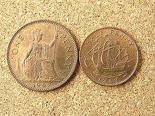 1967 centavo y medio centavo. buena condición universal. (1)