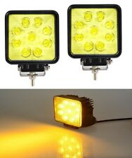 27W 9 LED Amber Car Flood Square Offroad Work Light Fog Lamp Ford Figo