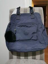 """Kipling """"Cravala"""" Storm Blue- Large Tote Bag with Monkey Keyring"""