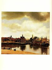 """1981 Vintage VERMEER """"VIEW OF DELFT"""" GORGEOUS COLOR offset Lithograph"""