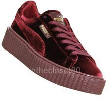 Puma Rihanna Fenty Creepers Velvet Burgundy Maroon Red Womens Trainers 364466 02