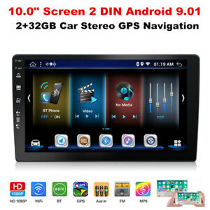 """10.0"""" 2DIN Android 9.01 Wifi Car Stereo Audio Radio Player GPS Navigation 2+32GB"""