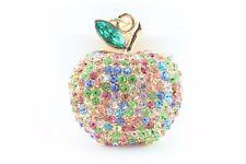 Colorful Apple Fruit Keychain Crystal Charm Animal Purse Gift Cute Accessory F3B