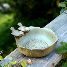 Antique Ceramic Tow Bird Bath Garden Outdoor Decor Vintage Feeder Home Aquarium