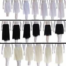 White Ivory Black Slips Petticoat Underskirt Half waist Skirt Plus size 10-22