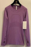 NWT RECENT Lululemon Women's Run Swiftly Tech Long Sleeves Purple Magenta Sz 4