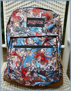 JanSport RIGHT PACK EXPRESSIONS Backpack MULTI RESORT CAMO ~ TROPICAL w/ PARROTS