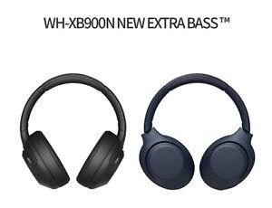SONY WH-XB900N Hermetic 50Ω 101dB 20/20kHz v4.2 1.2m ANC NFC Extra Bass Black
