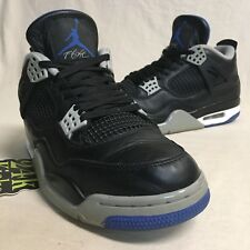 Air Jordan Retro 4 Black Motorsport Sz 8.5 Bred Toro Cement Thunder Fear White