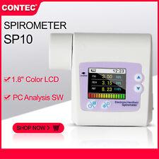 Contec SP10 Digital Spirometer Lung Breathing Diagnostic Spirometry Volumetric