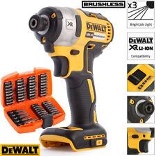 Dewalt DCF887N 18V XR Brushless Impact Driver With 53pcs Screwdriver Bit Set