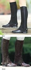 SHIRES  ADULTS SUEDE HALF CHAPS BLACK  XXLARGE