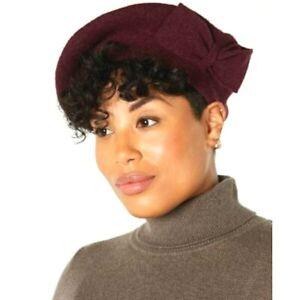 INC International Concepts INC Bow BeretDark Purple Women's Hat Wool