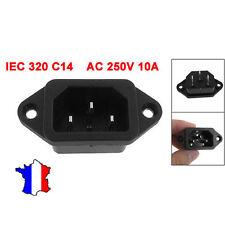 Connecteur / prise d'alimentation IEC 320 C14 male 3 pôles, 250V 10A