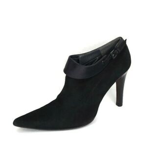 Donald J Pliner Womens Black Suede Pointed Toe Heel Ankle Booties Size 7 M US