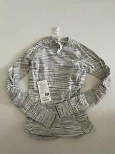 Lululemon Runderful Long Sleeve Space Dye Camo White Silver Spoon / Silver Spoon