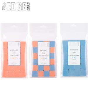 The Edge Nails 24 x Disposable Mini Foam Nail File Sanding Blocks 180/220 Grit