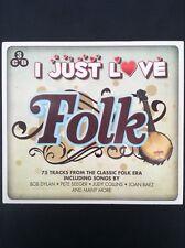V/A: I JUST LOVE FOLK 3CD set  75 tracks from classic folk era  Dylan, Baez etc