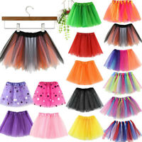 Girls Kids Baby Dance Fluffy Tutu Skirt Ballet Fancy Costume Dress Mini Skirt US