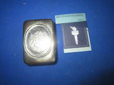 SCHWEPPES ADVERTISING TRICK OPENING MATCH HOLDER VESTA CASE MATCH SAFE STRIKER