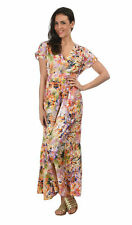 Plus Size Floral V Neck Tunic Dresses for Women