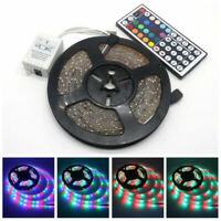 66FT Flexible Strip Light 3528 RGB LED SMD Remote Fairy Lights Room TV Party Bar