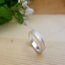 Klassische silberfarben mattiert ehering ring DE Größe 56,3