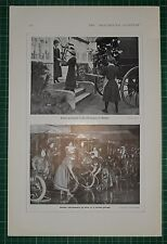 1916 WWI WW1 PRINT ~ WOMEN GARDENERS HOT HOUSES WINDSOR ~ CAB-CLEANERS LONDON