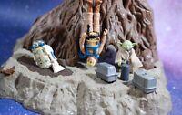 Vintage Star Wars Complete Yoda Dagobah Swamp Playset + Action Figures KENNER