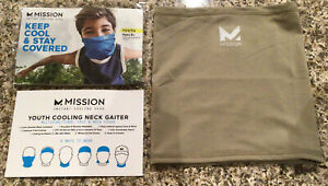 NEW MISSION YOUTH AGES 8+ INSTANT COOLING NECK GAITER-SAND