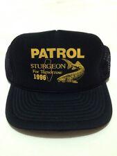 Sturgeon Patrol 1996 Snapback Meshback Trucker Hat Bass Fishing / Patch