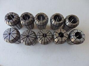 Part set of ER 25 collets