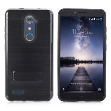For ZTE Z981 Carry Z MAX Pro Armor Hard Belt Clip Holster Case Cover Stand Black