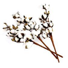 Set of 3 Artificial Cotton Plant Spray Fake Farmhouse Flower Filler Craft Supply