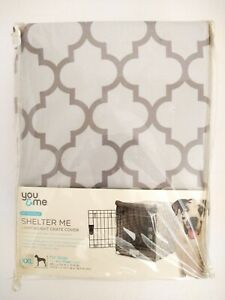 "You & Me Crate Cover Reversible Gray Size XXL 48"" x 29"" x 31"" Lightweight NEW"
