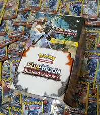 Lot of (100) Pokemon TCG ☆SUN&MOON☆BURNING SHADOWS BOX☆ 3-Card Booster Packs