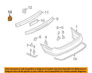Infiniti NISSAN OEM 02-04 I35 Rear Bumper-Reinforcement Stay Left 852113Y100