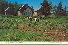 CANADA NOUVEAU BRUNSWICK village historique acadien écrite 2