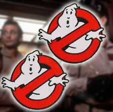 "GHOSTBUSTERS-Acchiappafantasmi Coppia di MOVIE TEAM LOGO deluxe grande 4 ""ricamata iron-on patch"