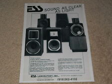 ESS Speakers Ad, 1986, AMT-1d, II, Bookshelf, 6D, Article, 1 page