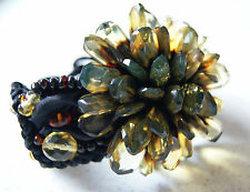 Natural Facet Green Baltic Amber Bracelet WithTextile! Premium quality!