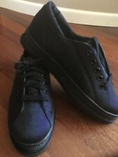 New STUART WEITZMAN Dark Navy Blue Shimmer Sneakers Size 7.5