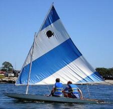 New Sunfish Sailboat Sail White Blue