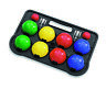 Kids 10 Piece Plastic French Boules Balls Game Set Outdoor Garden Carry Case NEW