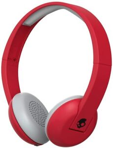 Skullcandy S5URHW-462 Uproar Wireless On-Ear Headphones, Red